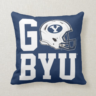 Go BYU Throw Pillow