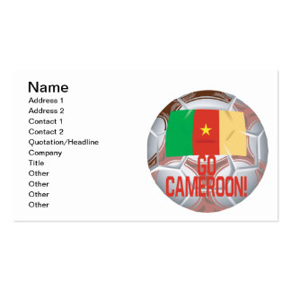 Go Cameroon Double-Sided Standard Business Cards (Pack Of 100)