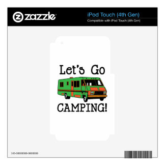 Go Camping Decals For iPod Touch 4G