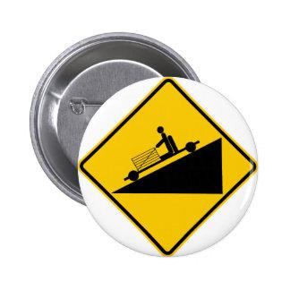 Go Cart Hill Zone Highway Sign 2 Inch Round Button