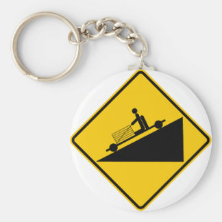 Go Cart Hill Zone Highway Sign Keychains