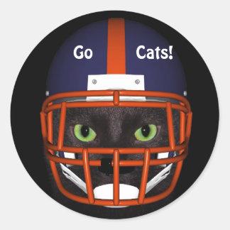 GO CATS! CLASSIC ROUND STICKER