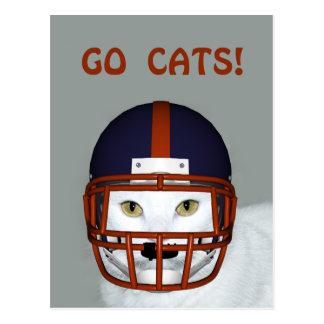 GO CATS! POST CARD