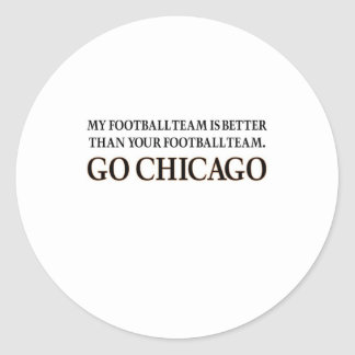 GO CHICAGO (black shuffle) Classic Round Sticker