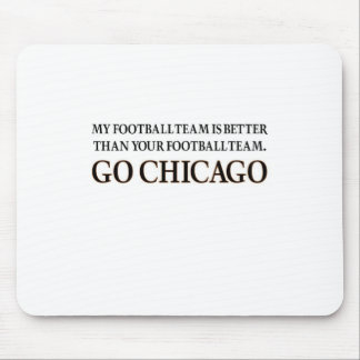 GO CHICAGO (black shuffle) Mouse Pad
