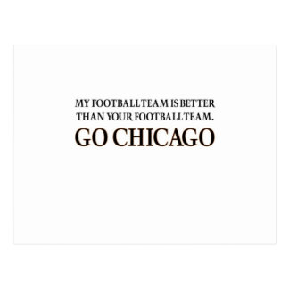 GO CHICAGO (black shuffle) Post Cards