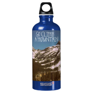 Go Climb A Mountain Aluminum Water Bottle