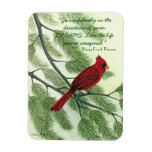 Go Confidently... - Bright Red Cardinal Magnet