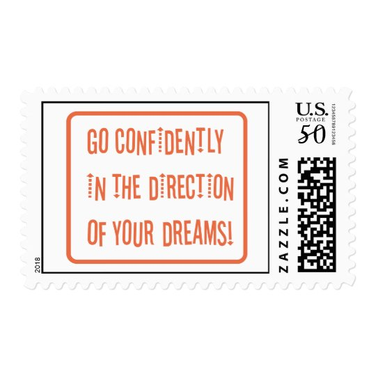 Go Confidently in the direction of your dreams Postage