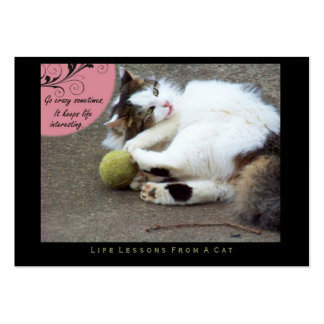 Go Crazy Life Lessons from a Cat ACEO Art Cards Business Card Templates