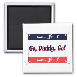 Go Daddy Go - Triathlon 2 Inch Square Magnet