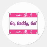 Go Daddy Go - Triathlon Round Sticker
