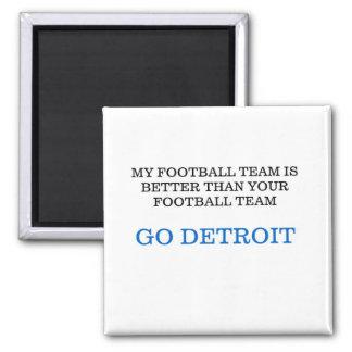 Go Detroit Fridge Magnet