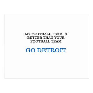 Go Detroit Postcard
