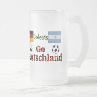 Go Deutschland Frosted Glass Beer Mug