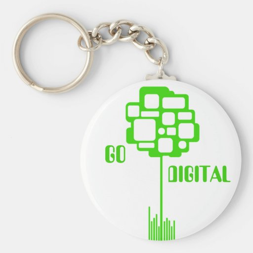 """Go Digital"" Keychain"