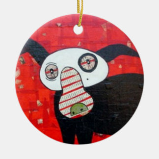 go dog peppermint2 ornament
