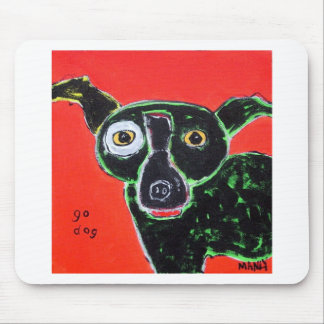 Go Dog Red Mouse Mat