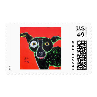 Go Dog Red Postage Stamp