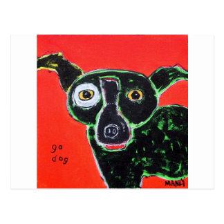 Go Dog Red Postcard