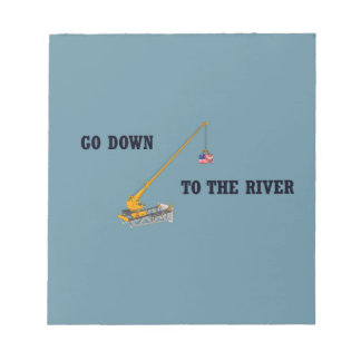 Go down to the river notepad