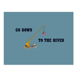 Go down to the river postcard