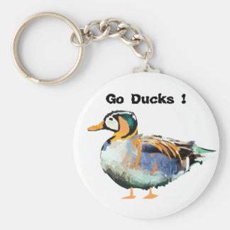 Go Ducks ! Basic Round Button Keychain