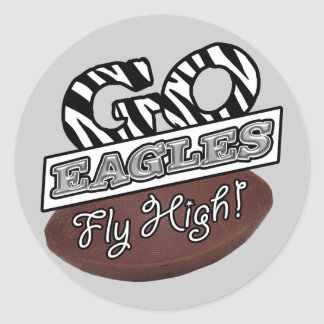 GO EAGLES (ZEBRA) CLASSIC ROUND STICKER