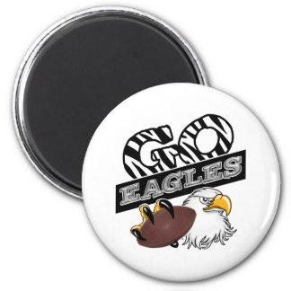 GO EAGLES ZEBRA Claw & Football 2 Inch Round Magnet