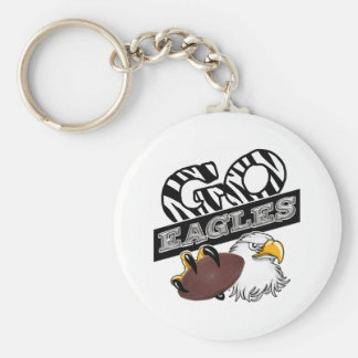 GO EAGLES ZEBRA Claw & Football Keychain