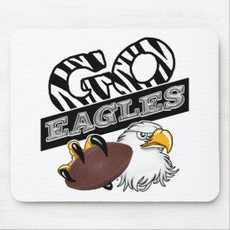GO EAGLES ZEBRA Claw & Football Mouse Pad