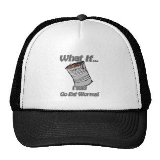 go eat worms trucker hat