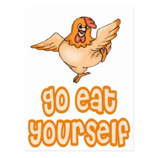 Go Eat Yourself Chicken Postcard