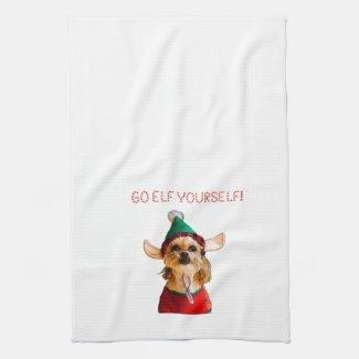 Go Elf Yourself Kitchen Towel