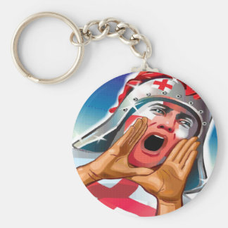 Go England Basic Round Button Keychain
