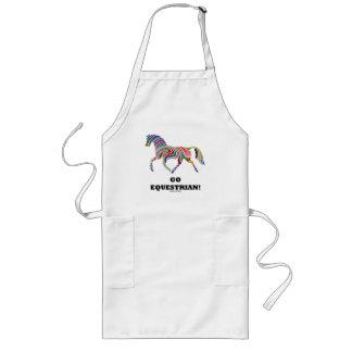 Go Equestrian! (Horse Color Swirl) Long Apron