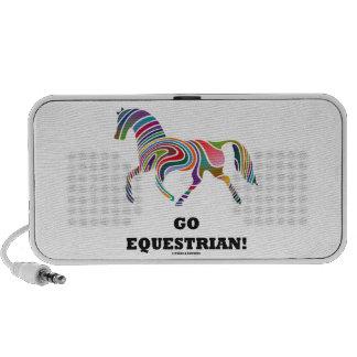 Go Equestrian! (Horse Color Swirl) Travel Speaker