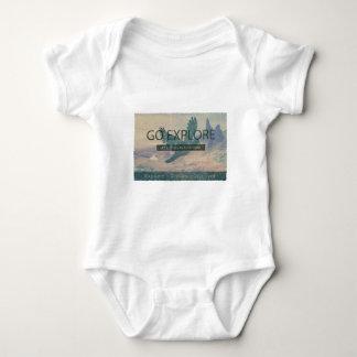 Go Explore Print Baby Bodysuit
