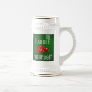 Go Farkle Yourself Beer Stein