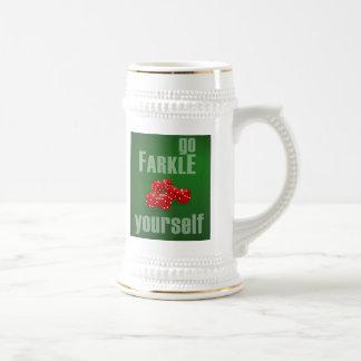 Go Farkle Yourself Beer Stein