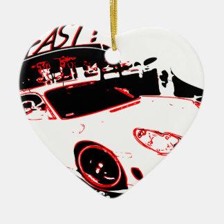 go fast adorno navideño de cerámica en forma de corazón