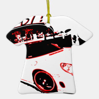 go fast adorno navideño de cerámica en forma de playera