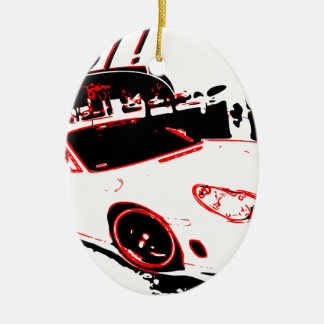 go fast adorno navideño ovalado de cerámica