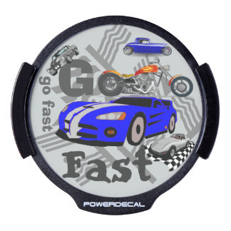 Go Fast Light Up Window Decal LED Car Decal