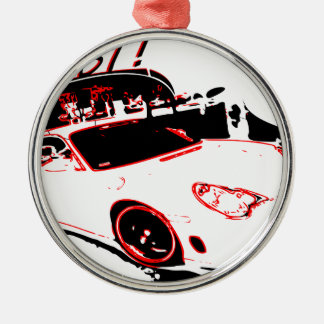 go fast metal ornament