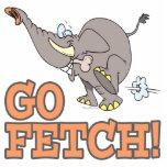 go fetch funny elephant cartoon acrylic cut out