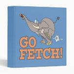 go fetch funny elephant cartoon binders