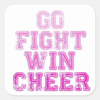Go, Fight, Win - Cheer Square Sticker