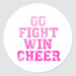Go, Fight, Win - Cheer Sticker
