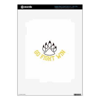 Go Fight Win Decals For iPad 3